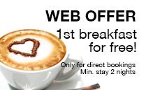 Offer free breakfast hotel in barcelona